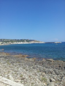Santa Maria di Leuca, the southern most tip of Italy and our goal for the trip.  Delivered!!!